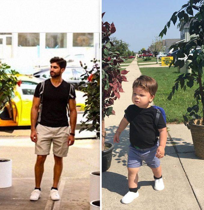 hombres usando la misma camisa