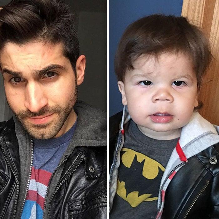 hombres con el mismo peinado