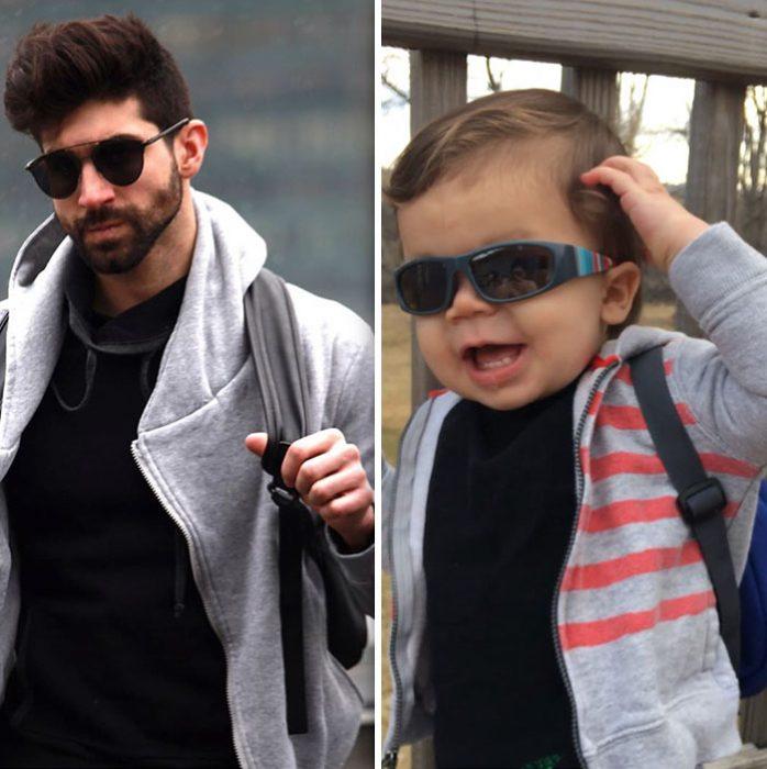 sobrino y tío vestidos igual