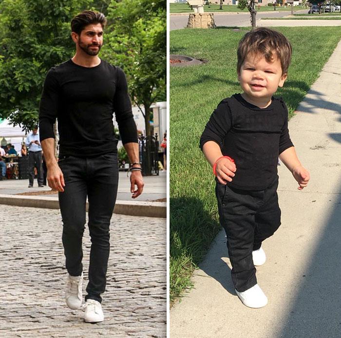 hombres vistiendo el mismo outfit