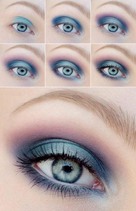 Tutorial para maquillar los ojos de color azul