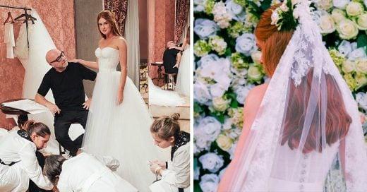 Esta novia no se conformó con un vestido, ¡usó 4!