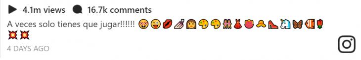 captura de pantalla con emojis