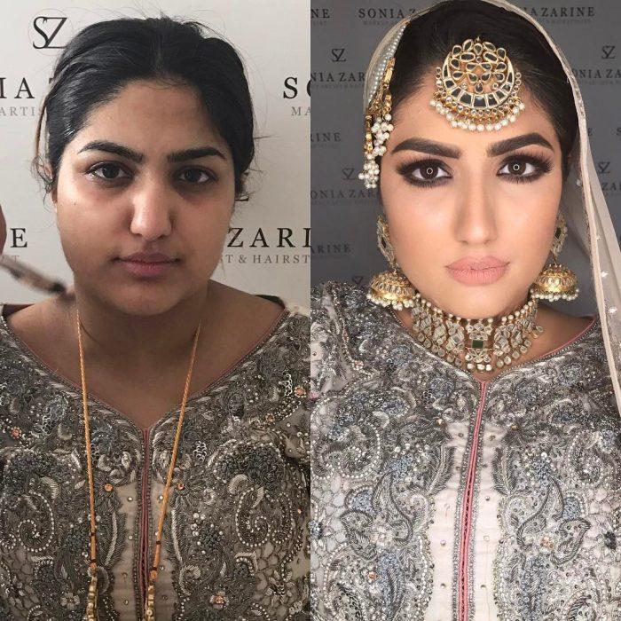 chica con decoración arabe