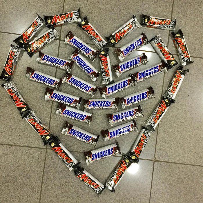 barras de snickers con proteína