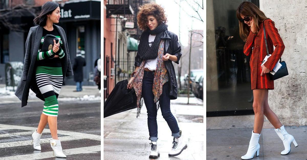 20 Looks con botas blancas que son inusuales pero perfectos