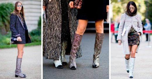 Las botas glitter de Chanel que todas las it-girls están usando