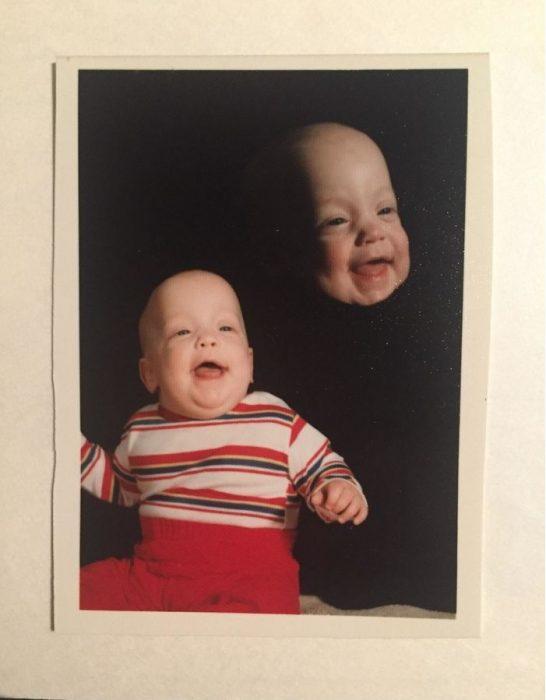 foto antigua de un bebé