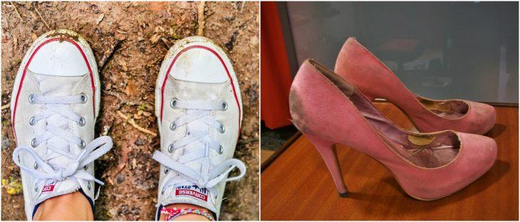 zapatos de mujer sucios