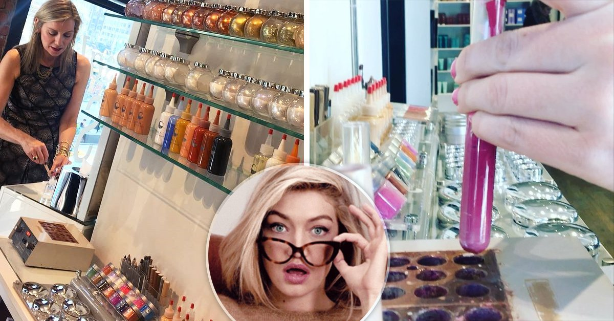 Giella te permite crear tu propio maquillaje, y es todo un sueño hecho realidad