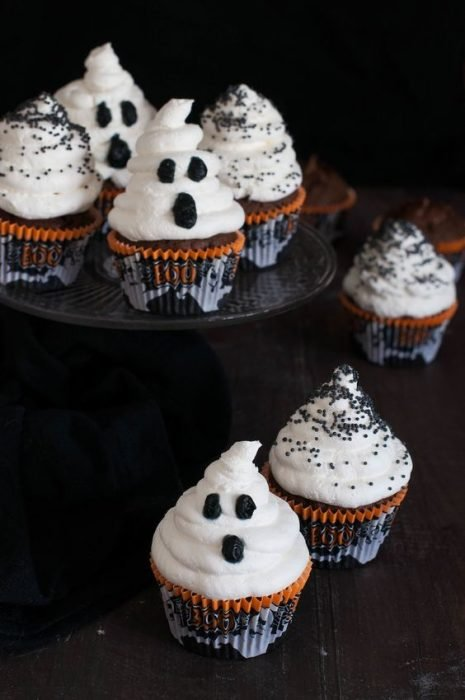 cupcakes de fantasmas