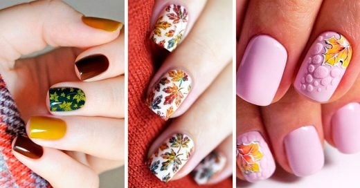 25 Diseños de uñas para quienes aman el otoño