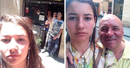 Esta chica se toma selfies con los hombres que la acosan por la calle