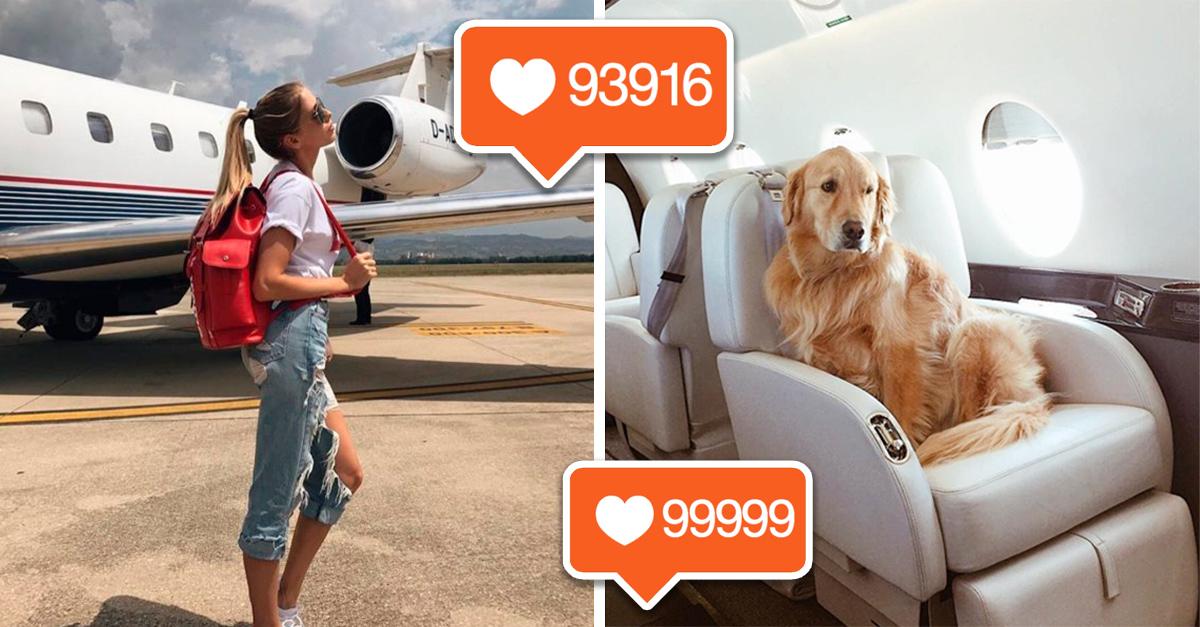 empresa alquila jets privados para que tengas una sesión fotográfica privada, y consigas más seguidores de Instagram