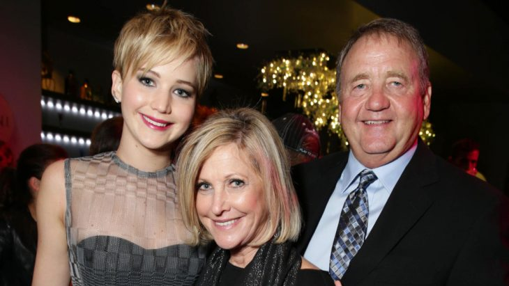 jenifer lawrence y sus padres