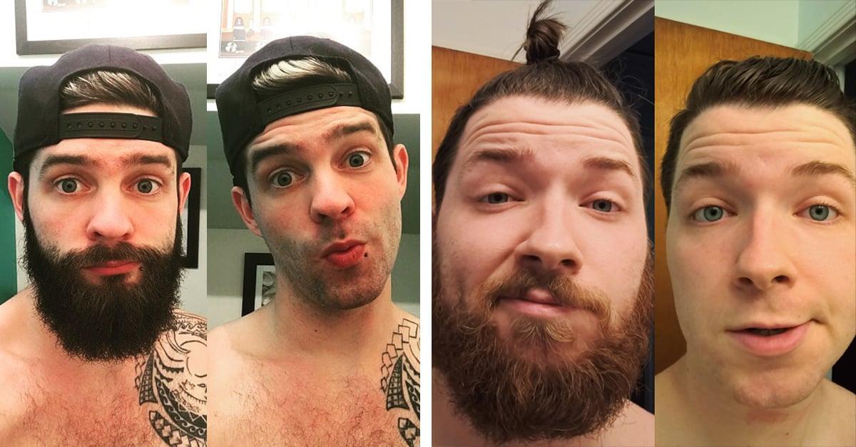 15 Antes y después de como lucen los chicos cuando se quitan la barba