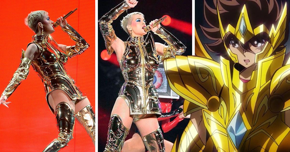 Katy Perry se transformó en Caballero del Zodiaco