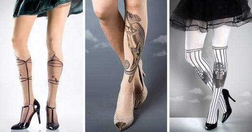 Medias que parecen tatuajes