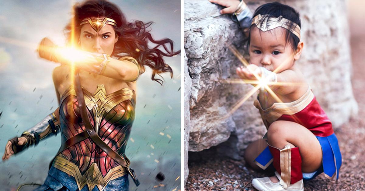 Esta pequeña tuvo la mejor sesión de fotos al convertirse en la Mujer Maravilla
