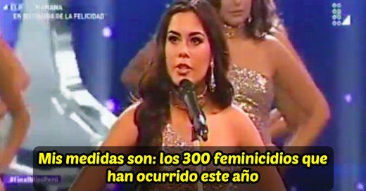 Las concursantes de Miss Perú cambiaron sus medidas por cifras de feminicidio; Internet les aplaude