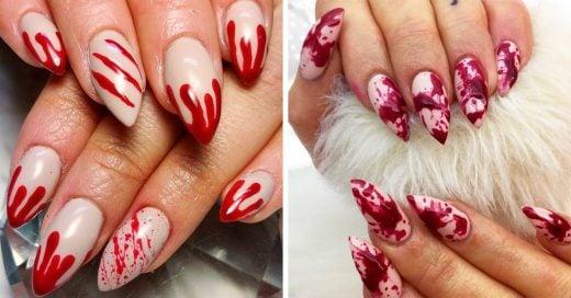15 Ideas para un manicure sangriento para usar no solo en Halloween