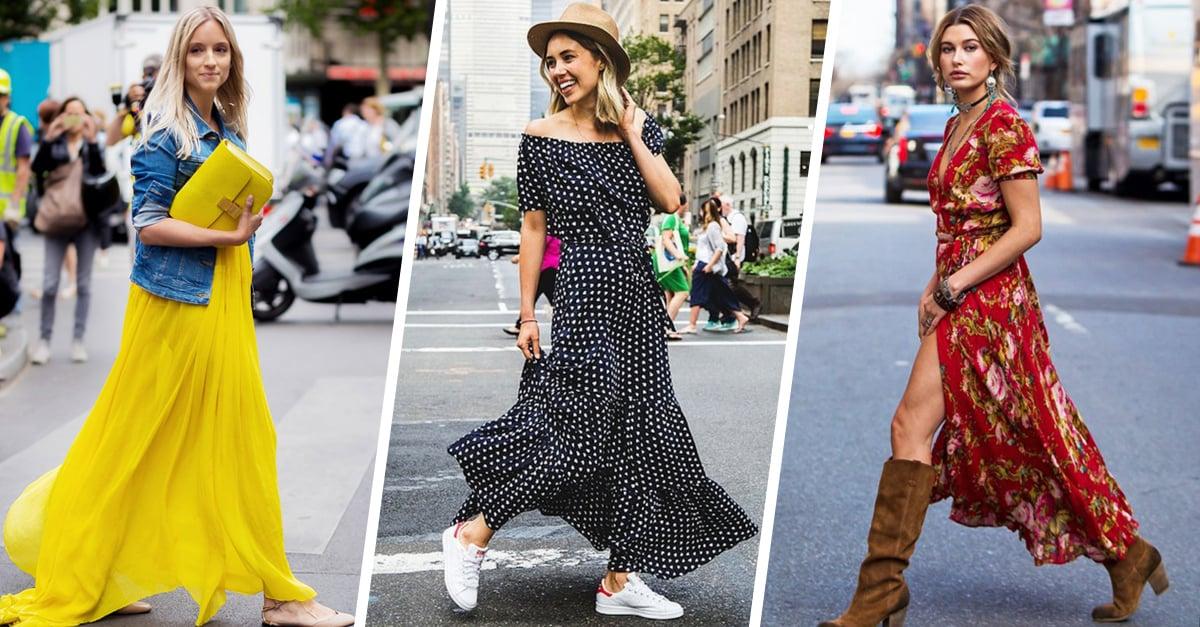 20 Outfits de maxi vestidos con tenis; conviertete en la reina de la comodidad