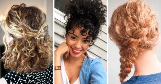 15 Sencillos peinados para mantener tus rizos controlados y con mucho estilo