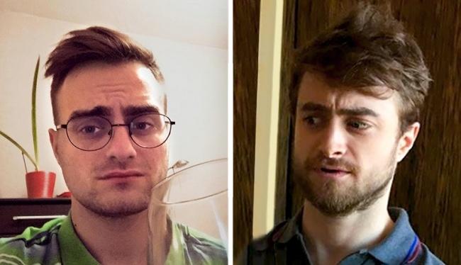 chicos usando barba