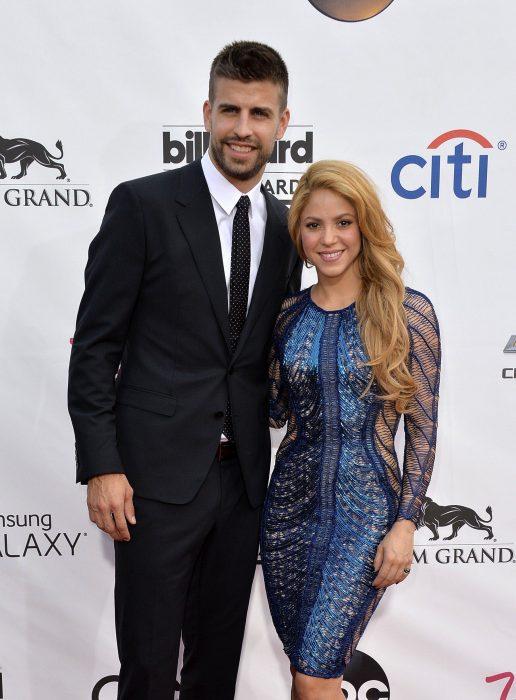 Shakira y Piqué en la entrega de premios billboard