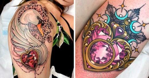 17 Increíbles tatuajes de diamantes que te harán mostrar tu lado más glamuroso