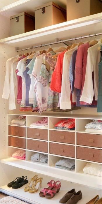 Tips para organizar tu closet