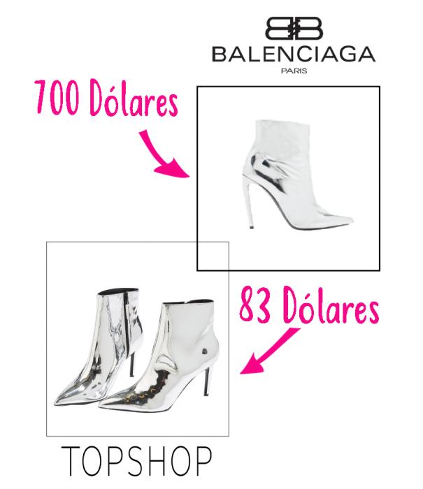 zapatos de diseñador vs zapatos accesibles balenciaga topshop