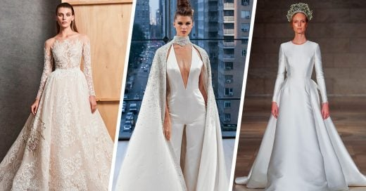 25 Sencillos vestidos de novia de la semana de novias otoño 2018