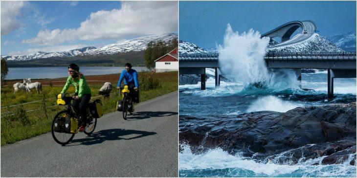 viaje en pareja a atlantic road en noruega