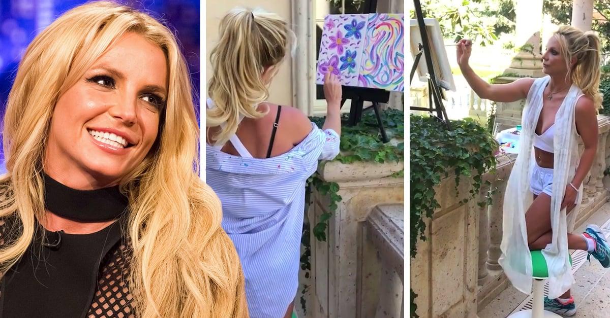 Este vídeo de Britney Spears pintando al óleo con Mozart de fondo es maravilloso