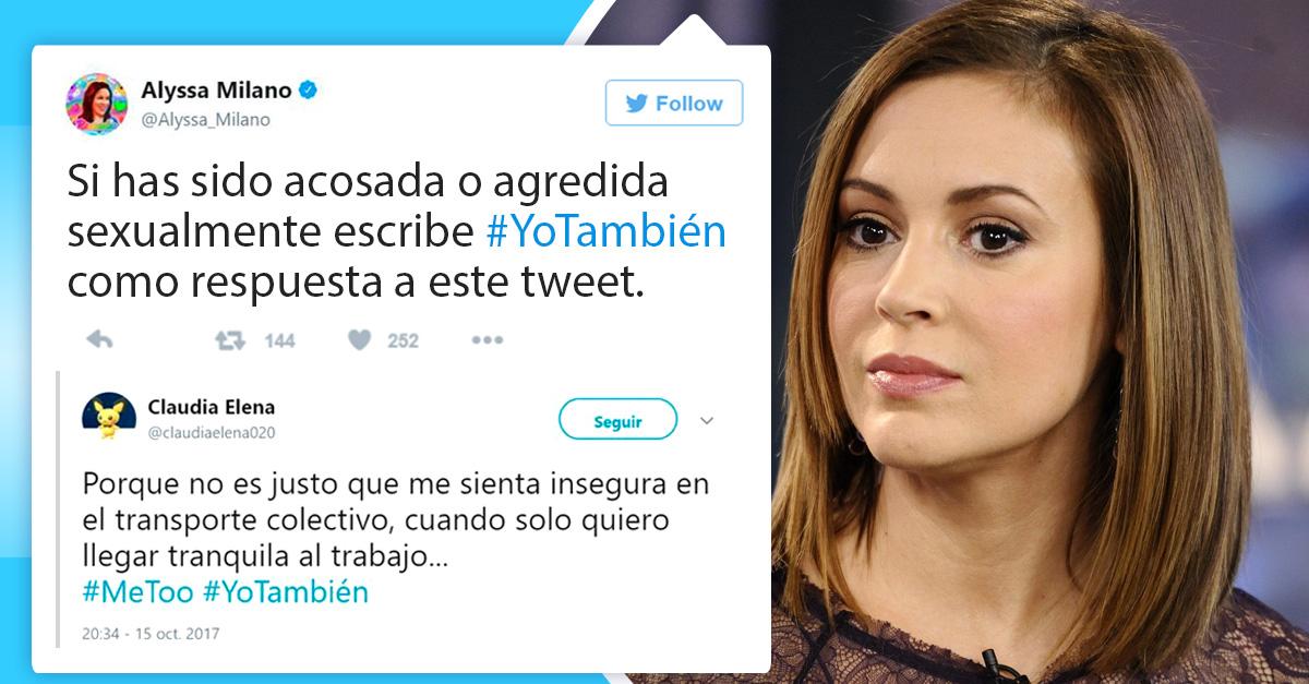 Mujeres de todo el mundo comparten sus denuncias de acoso con el hashtag #YoTambién