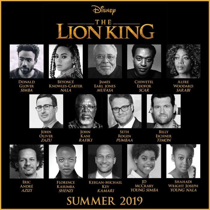 Casting completo del rey leon