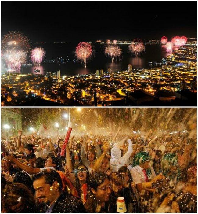 Año nuevo en Valparaiso, Chile