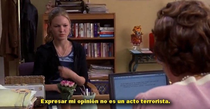 Kat defendía sus opiniones