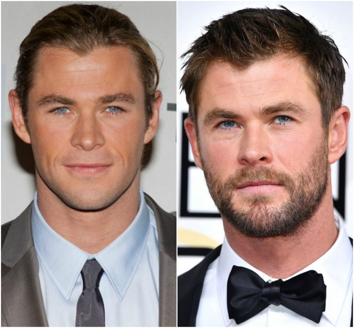 1. Chris Hemsworth con y sin barba