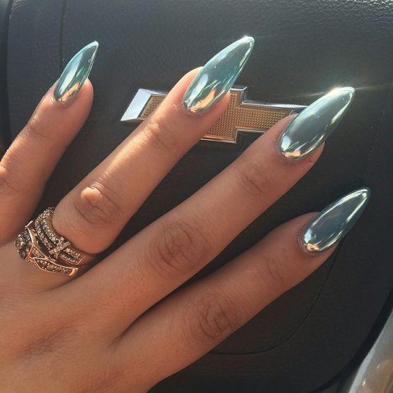 10 uñas cromadas