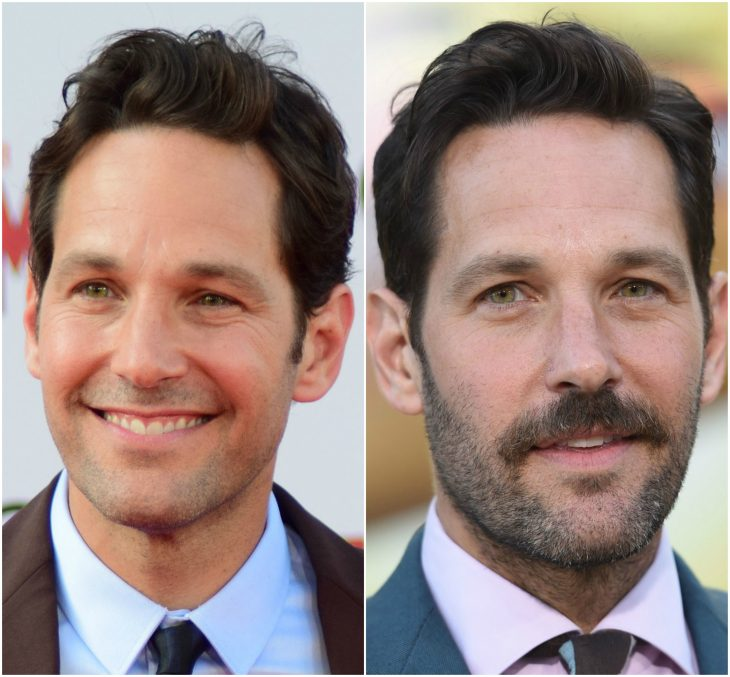 11. Paul Rudd sin y con barba
