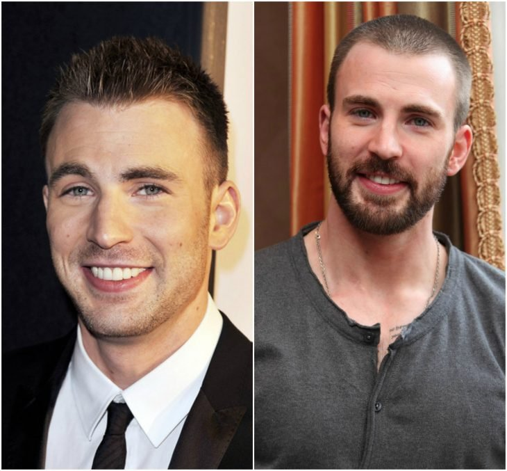 12. Chris Evans sin y con barba