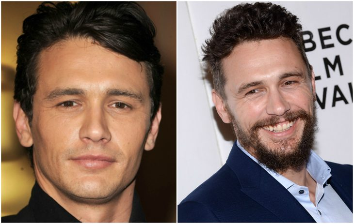 13. James Franco sin y con barba
