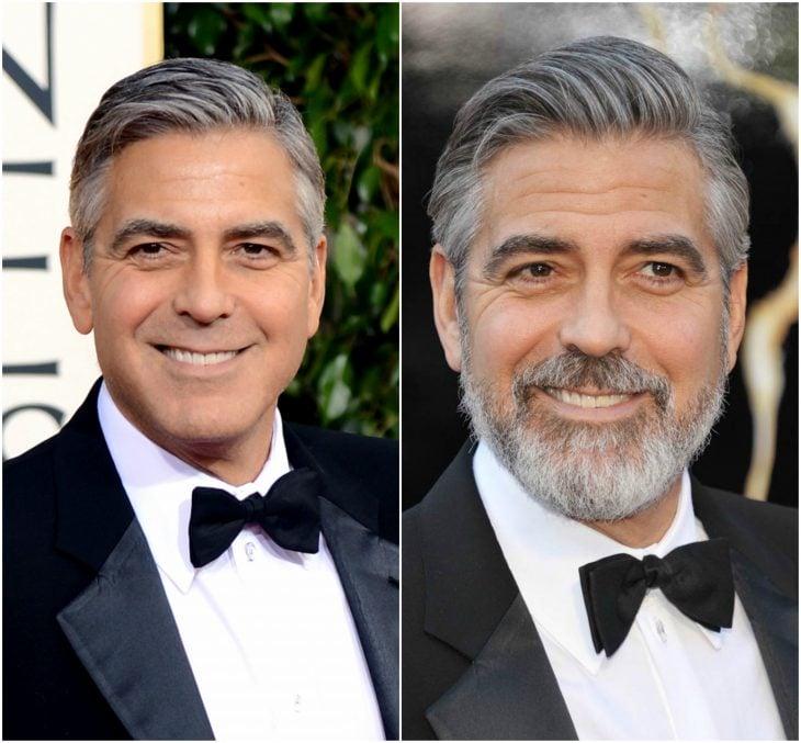 16. George Clooney sin y con barba