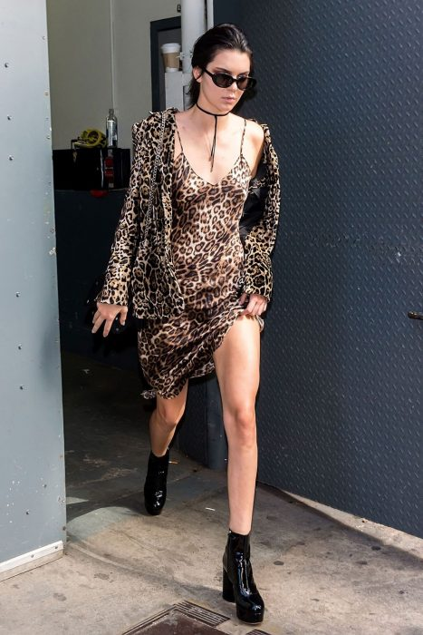 kendall jenner animal print