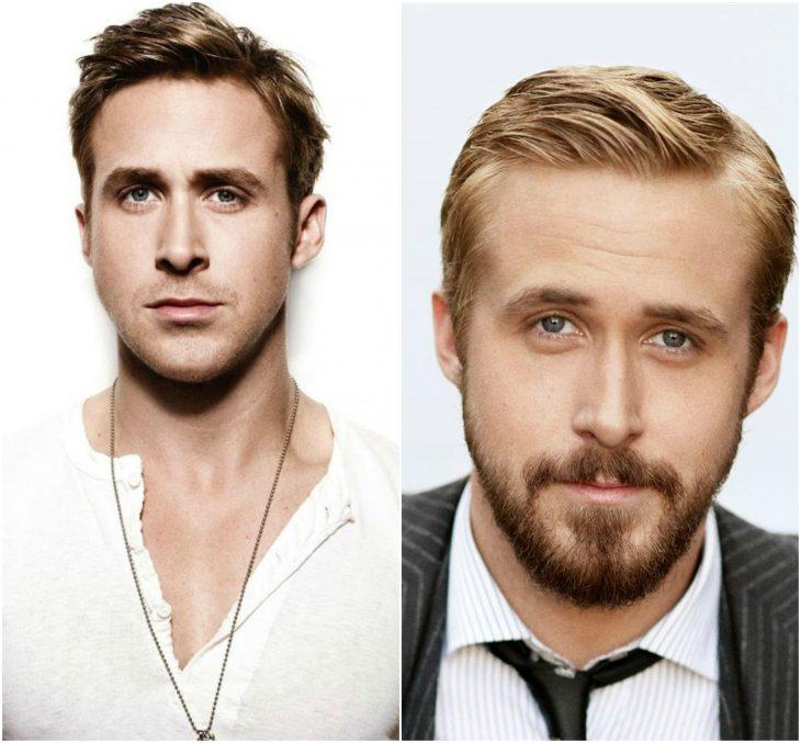 17. Ryan Gosling sin y con barba