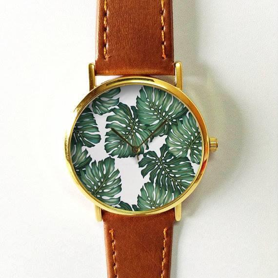 reloj vintage en cuero