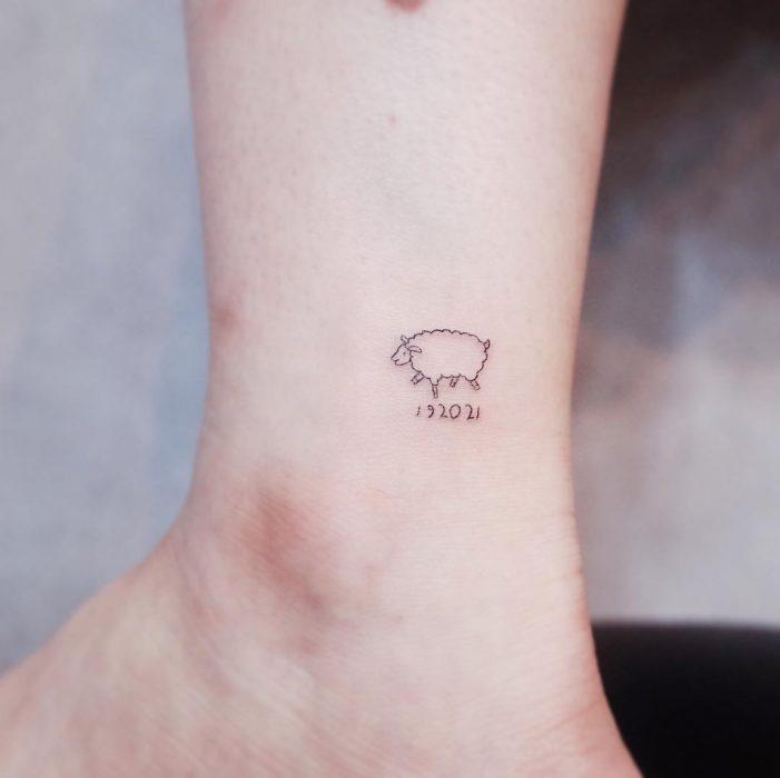 tatuaje de oveja