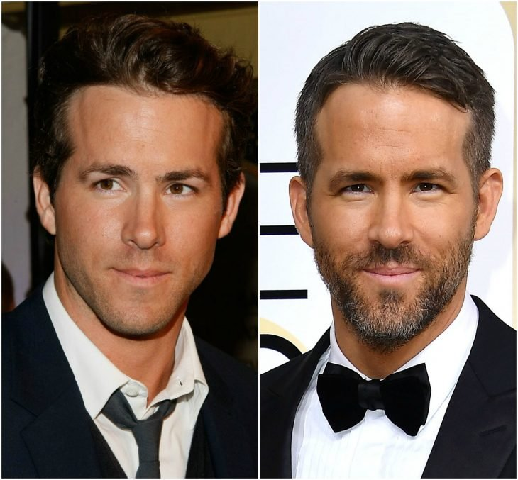 20. Ryan Reynolds sin y con barba